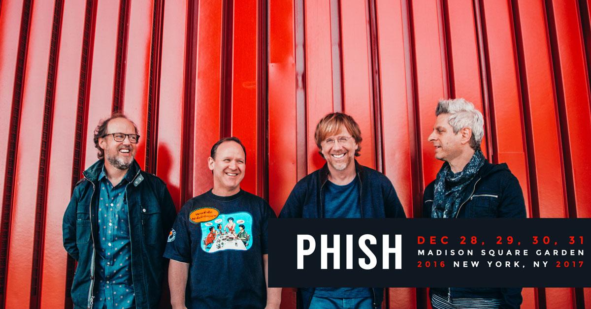 Phish new year s run 2016 2017 cid entertainment for Phish madison square garden tickets