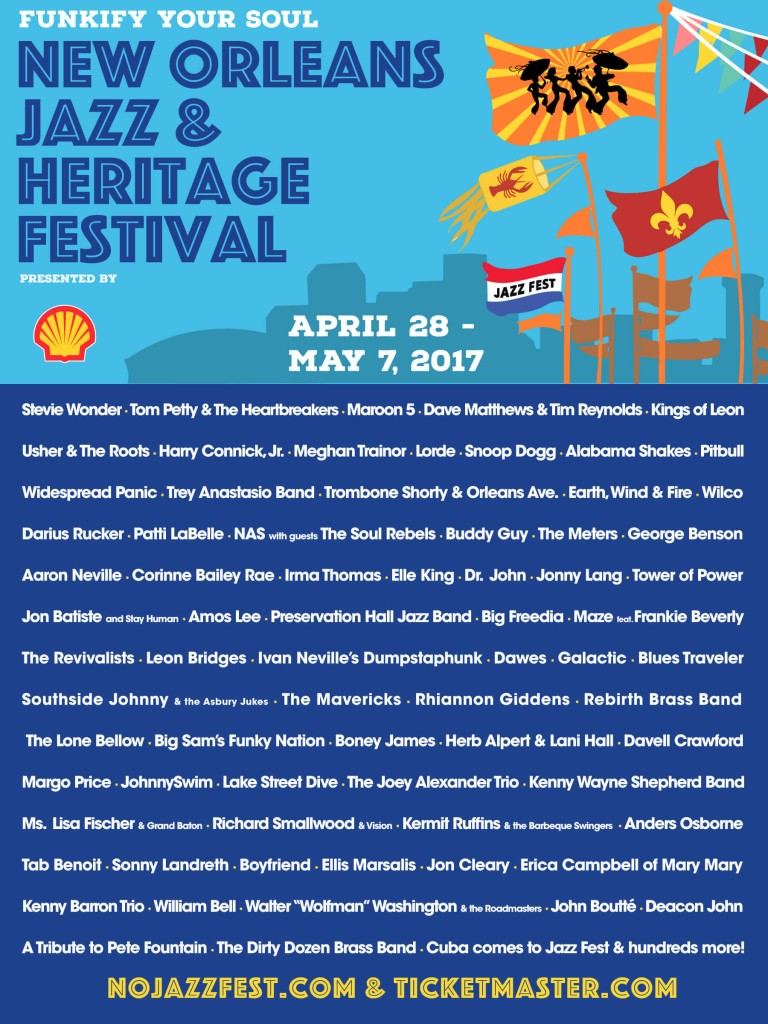 New Orleans Jazz & Heritage Festival 2017 Lineup