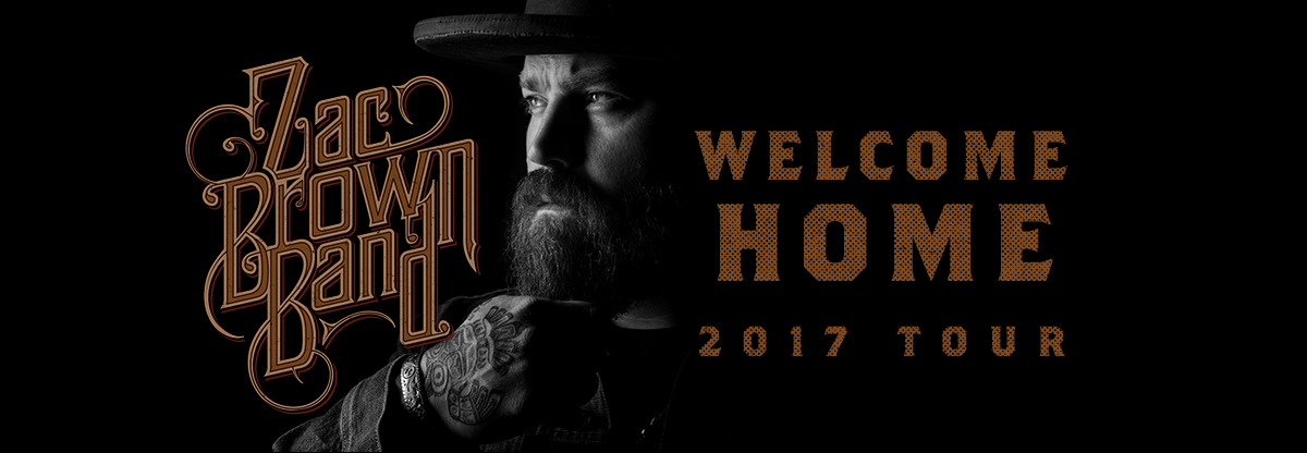 "Zac Brown Band ""WELCOME HOME"" 2017 Tour"