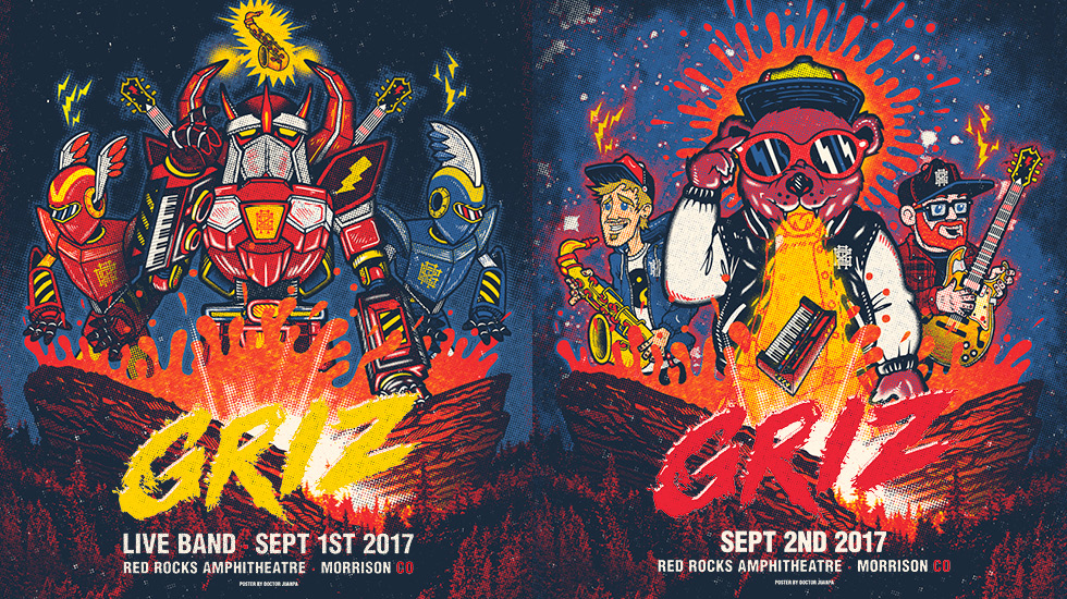 GRiZ at Red Rocks 2017