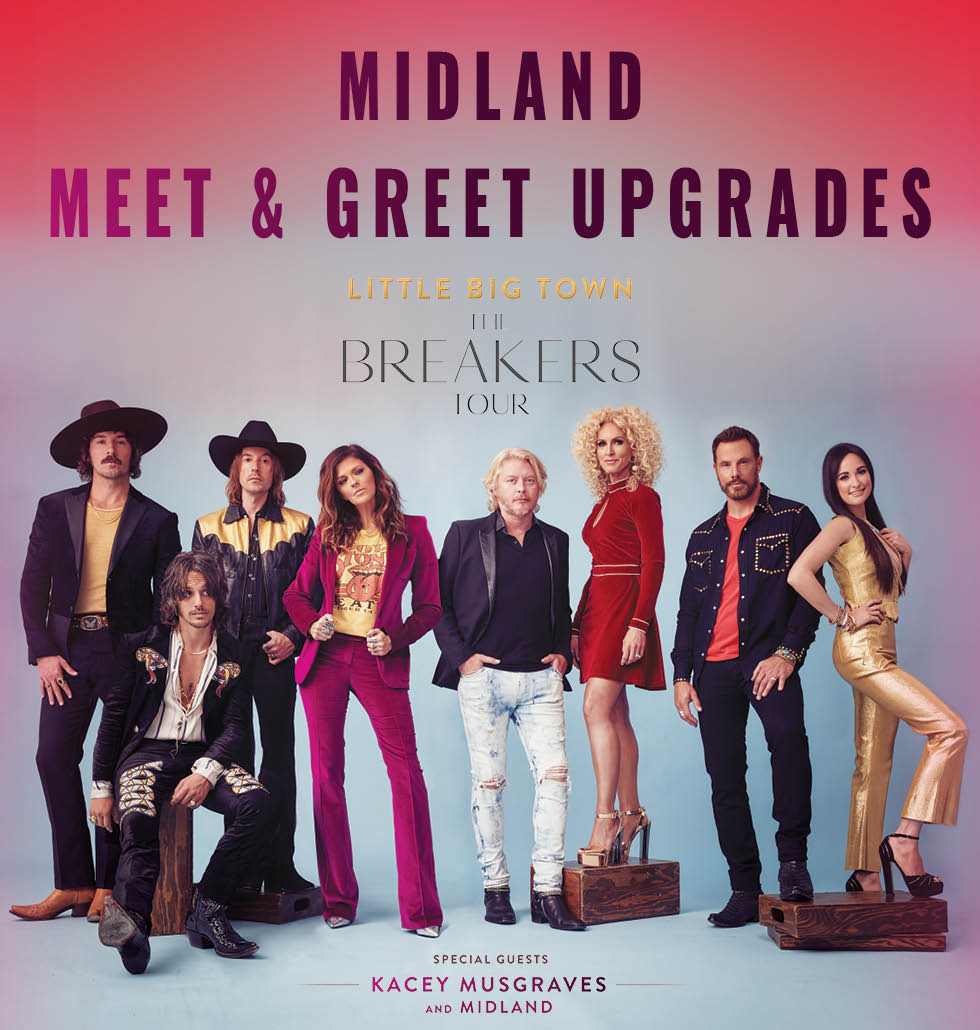 Midland on tour with Little Big Town 2018