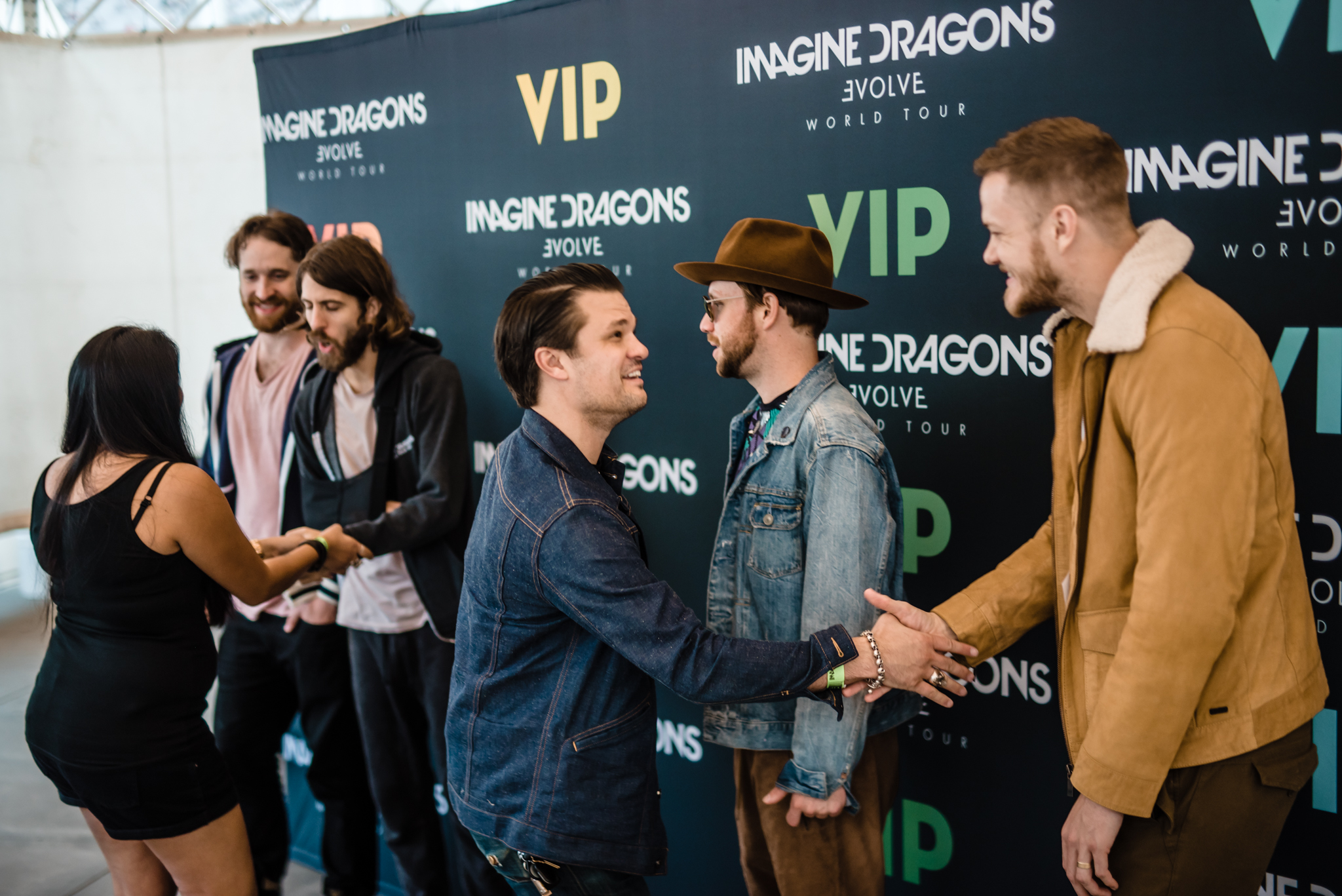 Imagine dragons vip tickets evolve world tour 2018 one 1 premium reserved seat in the first 5 rows or one 1 general admission pit ticket with early entry to see imagine dragons live meet greet kristyandbryce Gallery