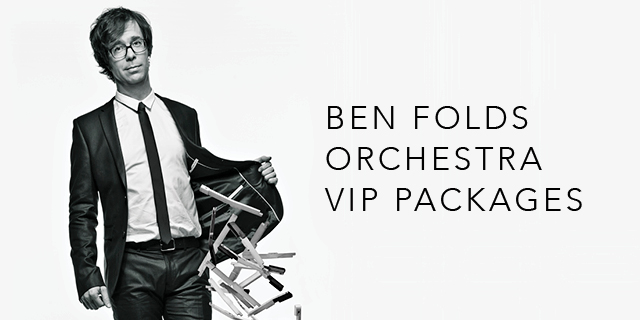 Ben Folds Tour 2020 Ben Folds Orchestral Tour 2020: Official VIP Packages